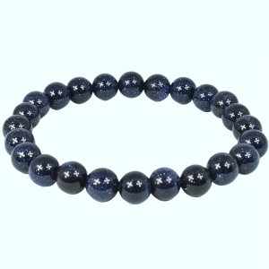 Blue Goldstone Bead Bracelets wholesale stones and crystals
