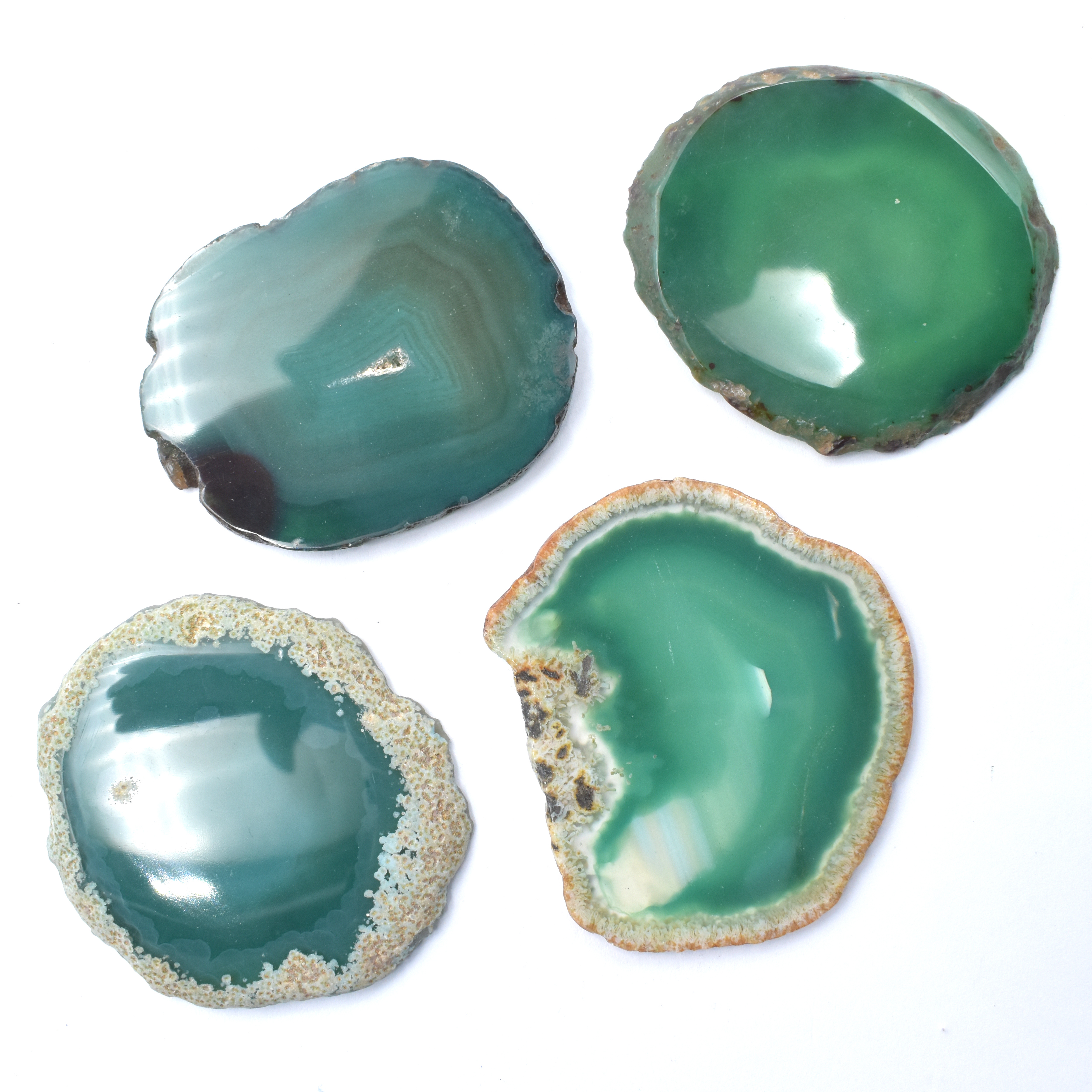 Agate Slice Green '1' Agate Slices natural crystals wholesale