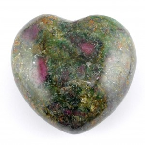 Australia Crystals Wholesale Natural Crystal Carvings Heart Ruby in Fuschite