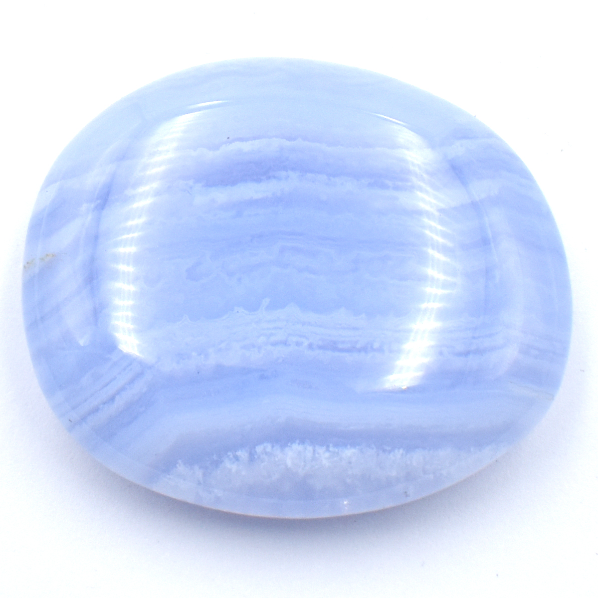 Blue Lace Agate Crystal Palm Stones