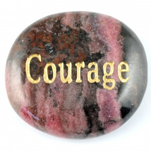 Crystals Wholesale Sydney Polished Crystal Word Stone Courage  046 (1)
