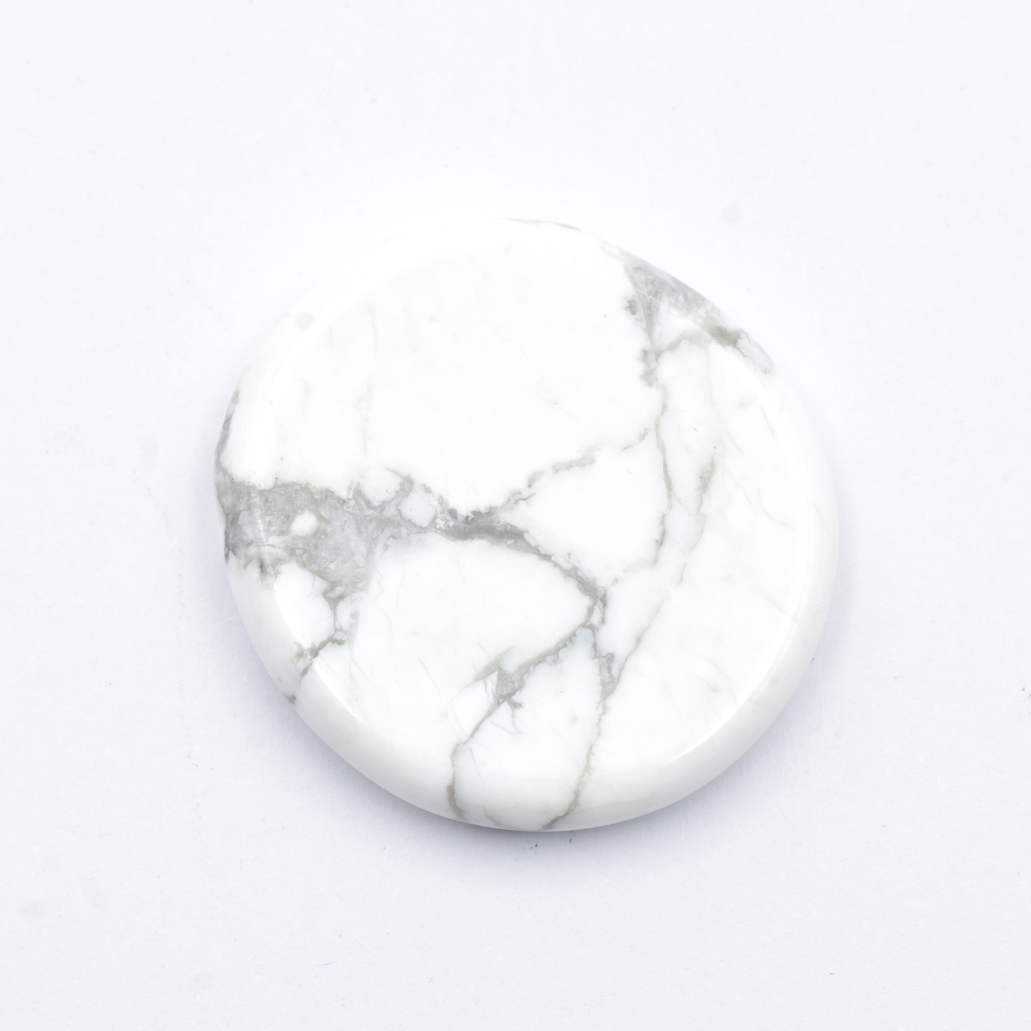 Howlite White Palmstones simply crystals of the world