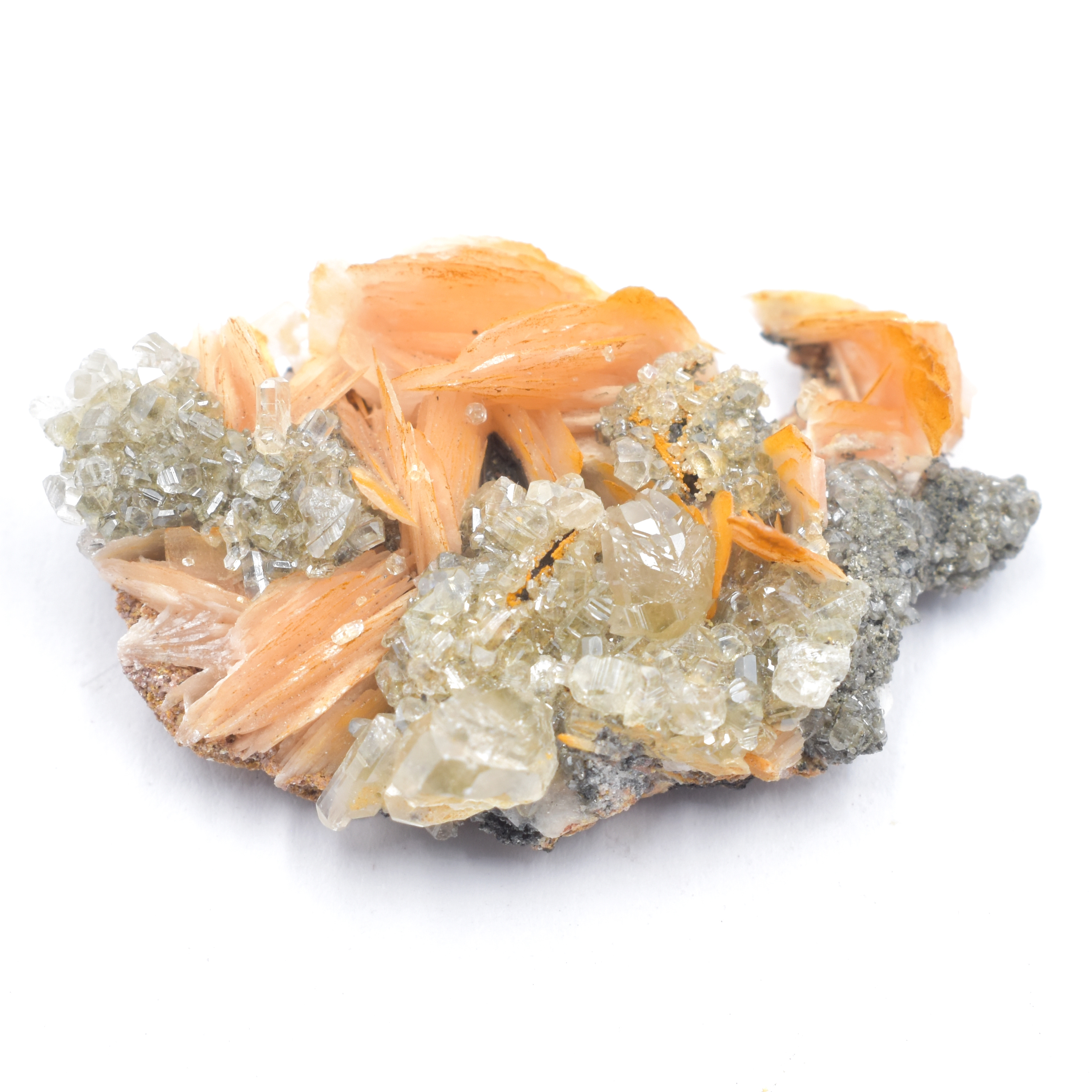 Cerussite Galena & Barite Crystal Specimens A-D simply crystals of the world