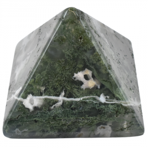 Green Moss Agate Pyramids wholesale stones