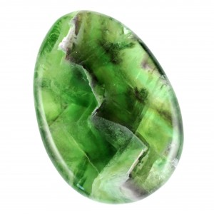 Crystals Wholesale Polished Healing Shape Worry Stone green fluorite