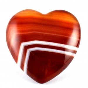 Wholesale Crystals Online Polished Crystal Heart Carnelian Banded