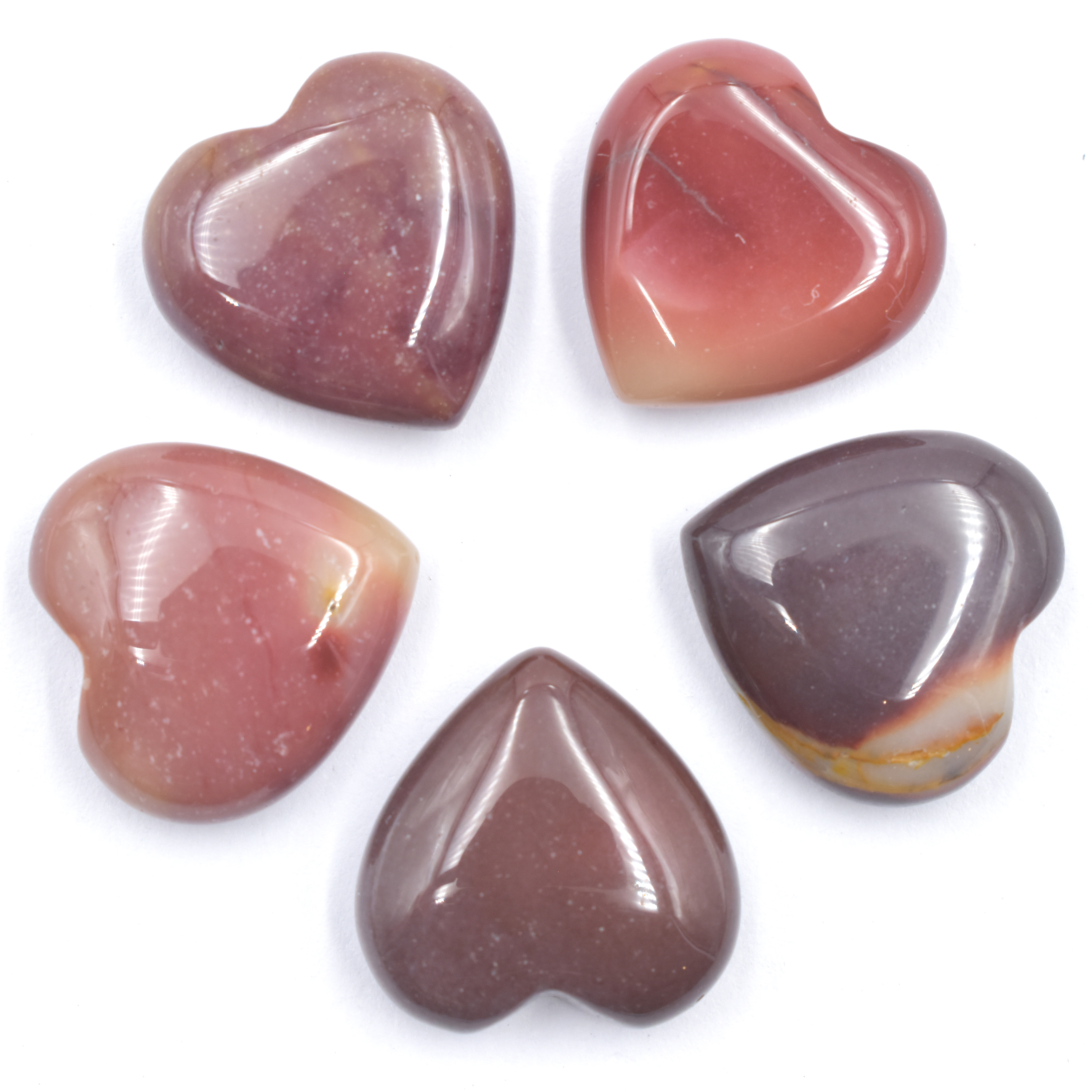 Mookaite Red Hearts Mini wholesale crystals for sale