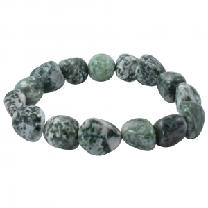 Jade Green Spot Tumbled Bracelets simply crystals of the world
