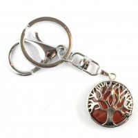 Wholesale Crystals Melbourne Red Jasper Keyring