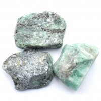 Pack Of 3 Emerald Small Crystalized Rocks