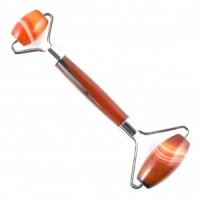 Wholesale crystals massage facial roller wand carnelian banded