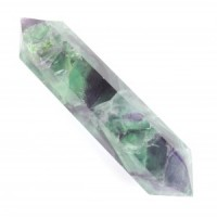 Crystal Wholesale Stones online Polished Wand Double Terminator Rainbow Fluorite
