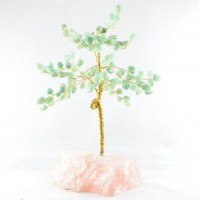 Wholesale Natural Crystals Australia Crystal Trees Large Green Aventurine on Rose Quartz