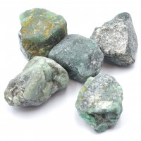 Pack Of 5 Emerald Small Crystalized Rocks
