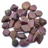 25-40 Pack of Ruby Red Natural Specimens
