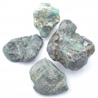 Pack Of 4 Emerald Small Crystalized Rocks