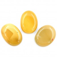 Pack of 3 Yellow Mookaite Crystal Palm Stones