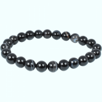Black Agate Bead Bracelets wholesale crystals and stones