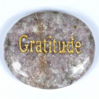Crystals Australia Wholesale Polished Crystal  Wordstone gratitude