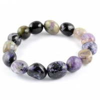 Australia Natural Crystal Jewellery Tumbled Crystal Bracelet charoite