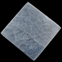 White Crystal Square Selenite Charging Plate