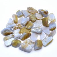 Blue Lace Agate Tumbled Stones natural crystal wholesale