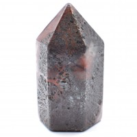 Six Sided Polished Red Agate Crazy Lace Crystal Generator