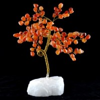 Wholesale Natural Crystals Australia Crystal Trees large carnelian on clear quartz
