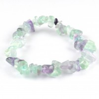 Crystals Australia Wholesale Jewellery chip bracelet fluorite green with purple