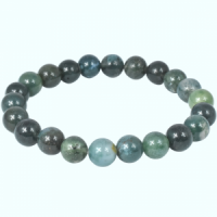 Green Moss Agate Bead Bracelets wholesale crystals adelaide