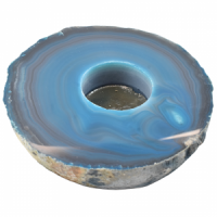 Teal Agate Flat Tealight Gifts wholesale crystals stones
