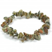 Crystals Wholesale Natural Crystal Chipped Bracelet Rhyolite