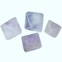 Lavender Octahedrons 4 Crystal Specimens E-O crystals and stones wholesale