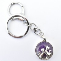 Crystal Keyring Cats Wholesale Stones Australia
