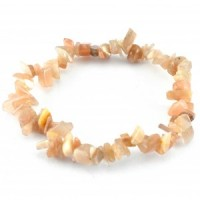 crystals and stones wholesale cream moonstone chip bracelet (1)