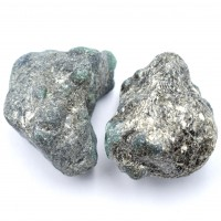 Pack Of 2 Emerald Small Crystalized Rocks