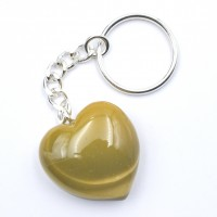 Mookaite Yellow Keyrings Hearts wholesale crystals online