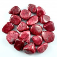 Wholesale Tumbled Crystals Australia Online Tumbled Howlite Red