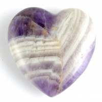 Australia Wholesale Crystal Carvings Crystal Heart amethyst chevron