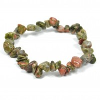 Crystals Wholesale Natural Crystal Chipped Bracelet Unakite