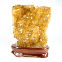Wholesale Natural Crystals Sydney Citrine Cluster on Wood