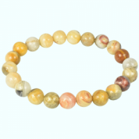 Yellow Crazy Lace Agate Bracelets crystals and stones wholesale