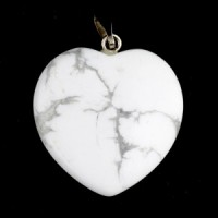 Crystals Wholesale Australia Polished Crystal Jewellery Heart Pendant white howlite