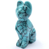 Cat Howlite Turquoise Animal Crystal Carvings