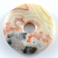 Wholesale Crystals Australia Online Crystal Jewellery Pendant Donut Crazy Lace Agate Red