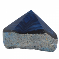 Blue Agate Top polished Generators simply crystals of the world
