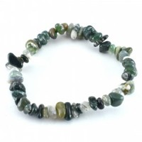 wholesale crystals sydney green moss agate chip bracelet (1)
