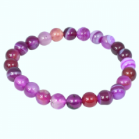 Agate Pink Coloured Bracelets simply crystals of the world