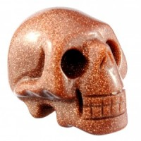 Crystal Carvings Australia Wholesale Crystal Skull Goldstone Gold