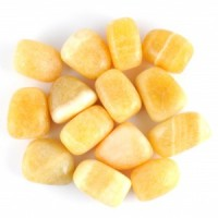 wholesale crystals online tumbled crystal aragonite yellow